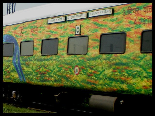 This is a 3AC coach of the 2259 Duronto Express. The coach belongs to ER and