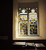 Stained Glass Window (Sian Bowi) Tags: light church window wales stainedglass books ceredigion penbryn eglwys d700 sianbowi llanfihangelarybryn
