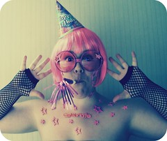 You say it's your birthday? It's my birthday too, yeah! (alibubba) Tags: birthday pink party portrait selfportrait silly goofy self stars fun glasses stickers celebration sp wig partyhat 31 celebrate selfie noisemaker faceart trp fgr 365days peopleasart 30songs30days myfaceismycanvas