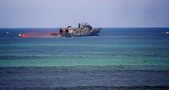 last warning flare-detination to occur (~*Art Images*~) Tags: ocean sea marine ship sink australia victoria canberra sunk naval wrecks oceangrove collendina