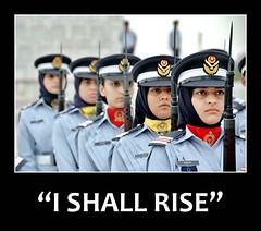 I SHALL RISE ( ) Tags: ladies girls friends woman cute girl lady training ally women friend marine uniform ranger sweet military navy police guns academy usaf defense raf enemy cadet foe solider paf air roses force forces anawesomeshot generalcoverage guns defense