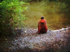 sitting in silence (AlicePopkorn) Tags: texture nature photoshop creativity peace silence harmony creativecommons balance meditation awareness spiritual stillness consciousness alicepopkorn theawardtree magicveil