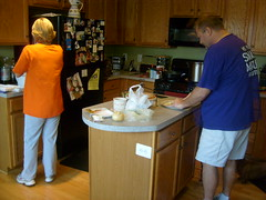 Mom and Dad Preparing the Food