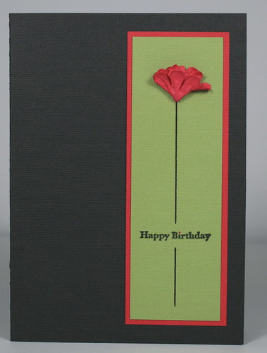 clean and simple flowercard