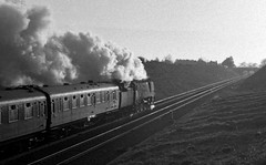 1964: Into the sunset (Nige's Place) Tags: york uk travel england europe br britain transport tracks trains steam engines rails british 1960s railways locomotion locomotives railroads steamengines britishrailways steamlocomotives oldlocomotives nigelkendall heritagesteam