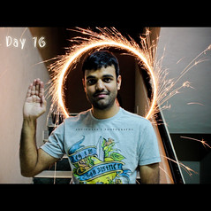 Celebrating Diwali | Day 016/365 (abhiomkar) Tags: india playing home festival speed long exposure play god indian ring celebration celebrations photoaday shutter anil bro hyderabad diwali crackers diya project365