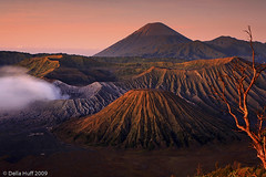 Smoking Mt. Bromo, Java, Indonesia (Della Huff Photography) Tags: mountain indonesia volcano java asia southeastasia geology bromo active tengger photocontesttnc10