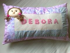 Almofada personalizada (Costurinhas Patch e Mdf -Elisama Aguiar) Tags: pano feltro boneca patchwork saco abajur almofada chaveiro