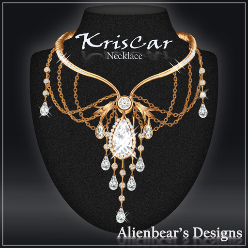 KrisCar gold necklace white