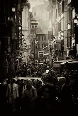 Via dei Condotti - Rome (Stefano Mazzoni) Tags: street light blackandwhite bw italy rome sepia contrast nikon streetphotography bn flare biancoenero seppia d60 viadeicondotti stefanomazzoni fotografiadistrada