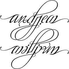 """Andrew"" & ""William"" Ambigram"