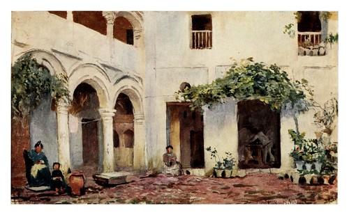 026-Córdoba-Patio-Southern Spain 1908- Trevor Haddon