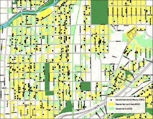 vacant properties in the district (by: city of Indianapolis)