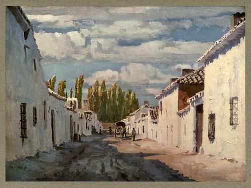 009-Argamasilla de Alba en la Mancha-An artista in Spain 1914- Michael Arthur C.