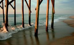 (FLSmith) Tags: ocean morning water lines nc sand waves shadows northcarolina atlanticocean carolinabeach carolinabeachpier