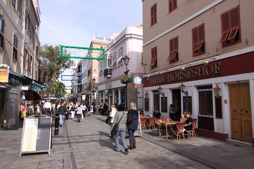 Shopping frenzy in Gibraltar Town...