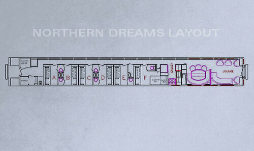 Private Rail Cars - Northern Dreams - plan