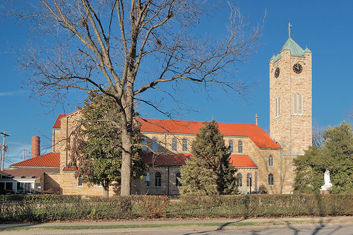 Saint Mary Roman Catholic Church, in Trenton, Illinois, USA - exterior