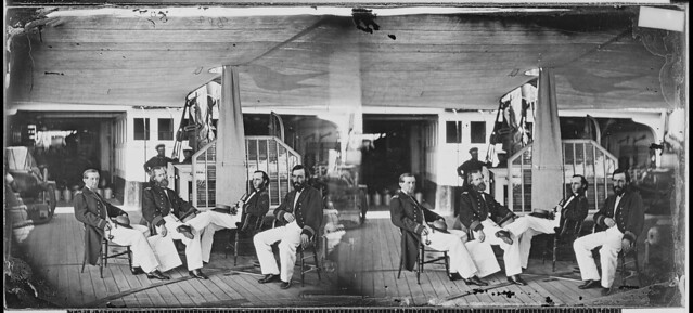 Officers of gunboat quotAgawamquot by The US National Archives