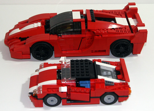 2010 LEGO Creator 5867 Super Speedster - Compared to 8156 Ferrari FXX