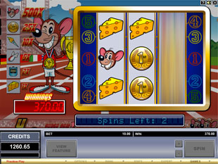 free Track and Field Mouse gamble bonus game