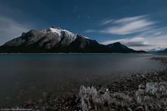 Starry Night Over a Cold Abraham Lake (Marc Shandro) Tags: ca winter lake canada ice night stars moonlit alberta formations davidthompsonhwy