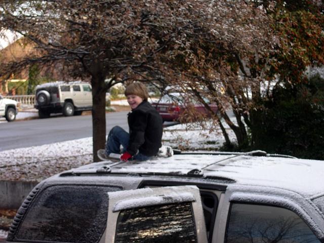 Scraping snow