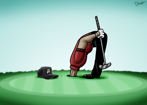 tiger woods cartoon