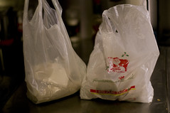 Two bags of tamales, enought to feed me for a few days, cost about $10.
