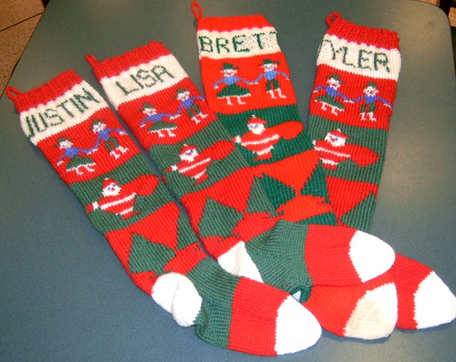 Knitting Pattern For Christmas Stocking Pattern Only Hand Knitted
