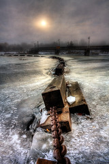 Frozen Still (The Oracle) Tags: bridge ice belleville chain hdr surrealphotography torontophotographer fantasyphotography torontophotography 100commentgroup magicunicornverybest magiayfotografia