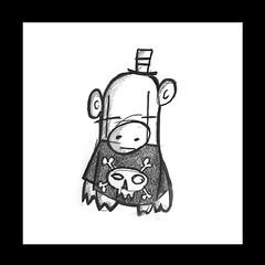 Pig ([rich]) Tags: dog hat skull pig doodle bone scribble