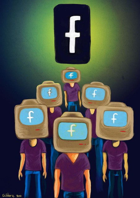 Facebook is Watching You - Illustration par Gilderic
