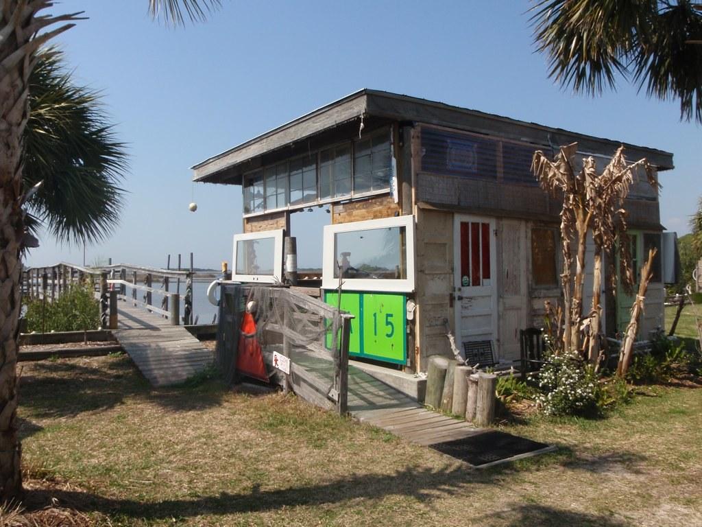 Funky Tiki Bar in Cedar Key Florida