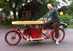 ride test_wtih Ella_2 (METROFIETS) Tags: green beer bike bicycle oregon garden portland construction paint nw box handmade steel weld coat transport craft cargo torch frame pdx custom load cirque woodstove builder haul carfree hpm suppenkuche stumptown paragon stp chrisking shimano custombike cargobike handbuilt beerbike workbike bakfiets cycletruck rosecity crafted 4130 bikeportland 2011 braze longjohn paradiselodge seattlebikeexpo nahbs movebybike kcg phillipross bikefun obca ohbs jamienichols boxbike handmadebike oregonhandmadebikeshow nntma hopworks metrofiets alltypesoftransport cirqueducycling oregonmanifest matthewcaracoglia palletbike oregonframebuilder seattlebikeshow bikefarmer trailheadcoffee