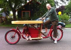 ride test_wtih Ella_2 (METROFIETS) Tags: green beer bike bicycle oregon garden portland construction paint nw box handmade steel weld coat transport craft cargo torch frame pdx custom load cirque woodstove builder haul carfree hpm suppenkuche stumptown paragon stp chrisking shimano custombike cargobike handbuilt beerbike workbike bakfiets cycletruck rosecity crafted 4130 bikeportland 2011 braze longjohn paradiselodge seattlebikeexpo nahbs movebybike kcg phillipross bikefun obca ohbs jamienichols boxbike handmadebike oregonhandmadebikeshow nntma hopworks metrofiets alltypesoftransport cirqueducycling oregonmanifest matthewcaracoglia palletbike oregonframebuilder seattlebikeshow bikefarmer trailheadcoffee