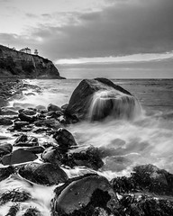 Blackhead (Stephen_Lavery) Tags: belfastlough blackhead countyantrim ireland northantrimcoast northernireland stephenlavery whitehead boulders cloud coast coastal horizon lighthouse ocean rocks sea seashore sentinel shoreline sky tidal tide warning wash wavelet waves