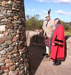 Inspection of the Cairn by Sir Wayne Broun, accompanied by Mayor Dom Lopez OAM