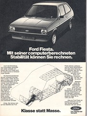 ford fiesta (1977) (sonjasfotos) Tags: ford vintage advertising fiesta oldtimer werbung reklame caradvertising