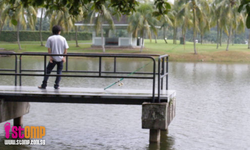Anglers break rules and go fishing at Lake View Promenade