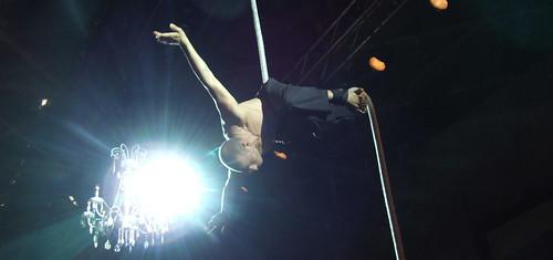 rope dancer at Lingerie show