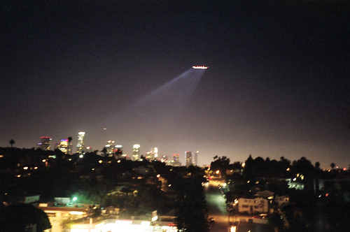 alien space craft over LA