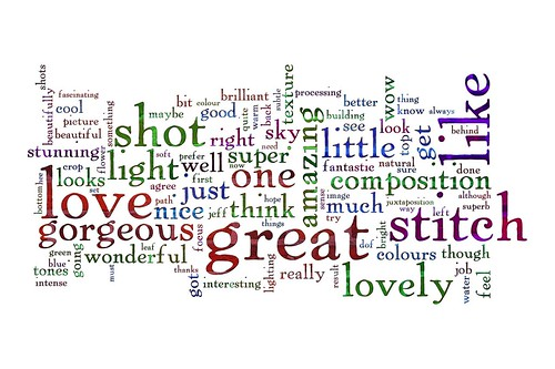 Word Week: A word cloud of my comments by lee.stephens