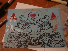 ahh! doodling! (PodgyPanda) Tags: zen elephants doodles photopaper thisisrabbit podgypanda