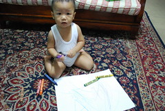 My little artist.