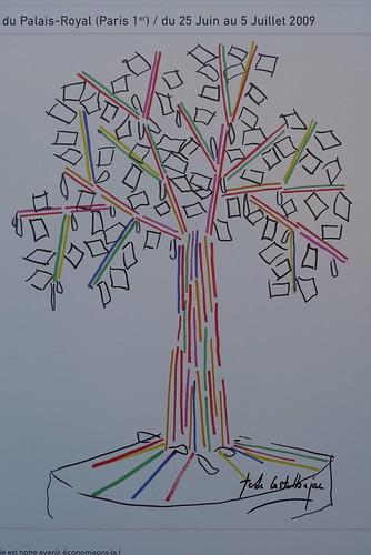 je fais pousser un arbre.com place du palais royal juin 2009