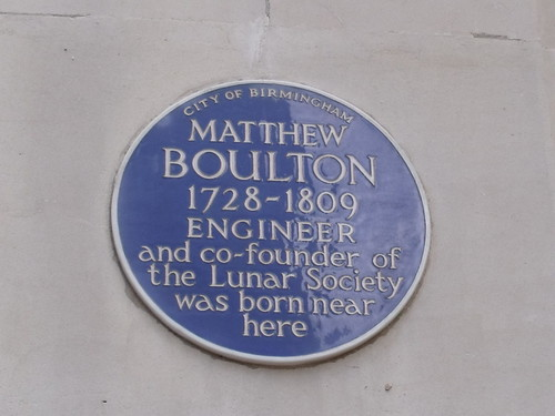 Matthew Boulton - blue plaque