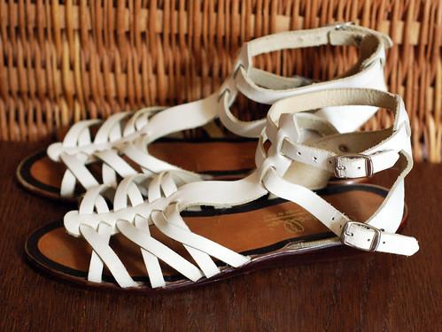 White Gladiator Sandals 2
