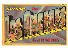 Route 66 Los Angeles Postcard (crayolamom) Tags: california from ca usa vintage losangeles highway state postcard large 66 route letter northamerica greetings reprint