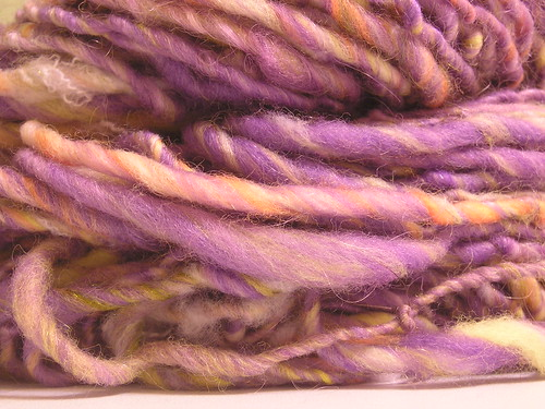Purchased yarn: Purple Schmurple